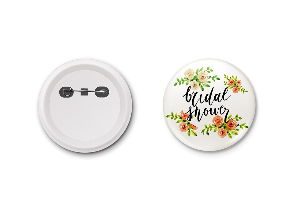 Personalised Pin Buttons